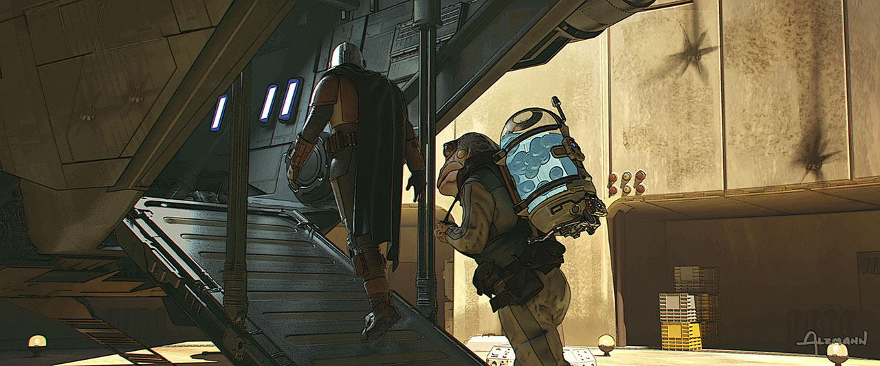 The Mandalorian Chapter 10 concept art by Christian Alzmann