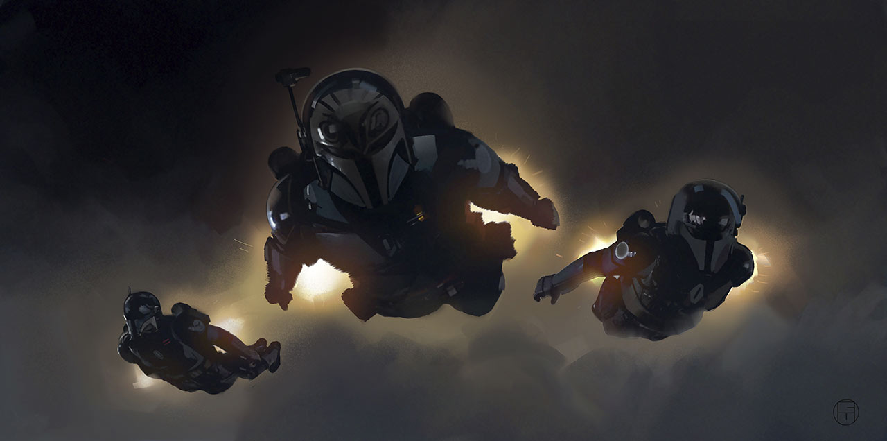 The Mandalorian concept art by Brian Matyas