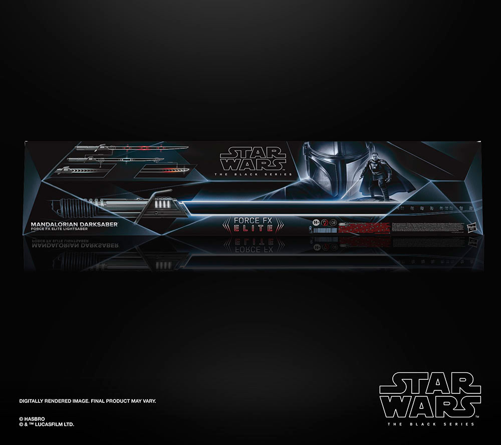 Hasbro's Force FX Elite Darksaber box