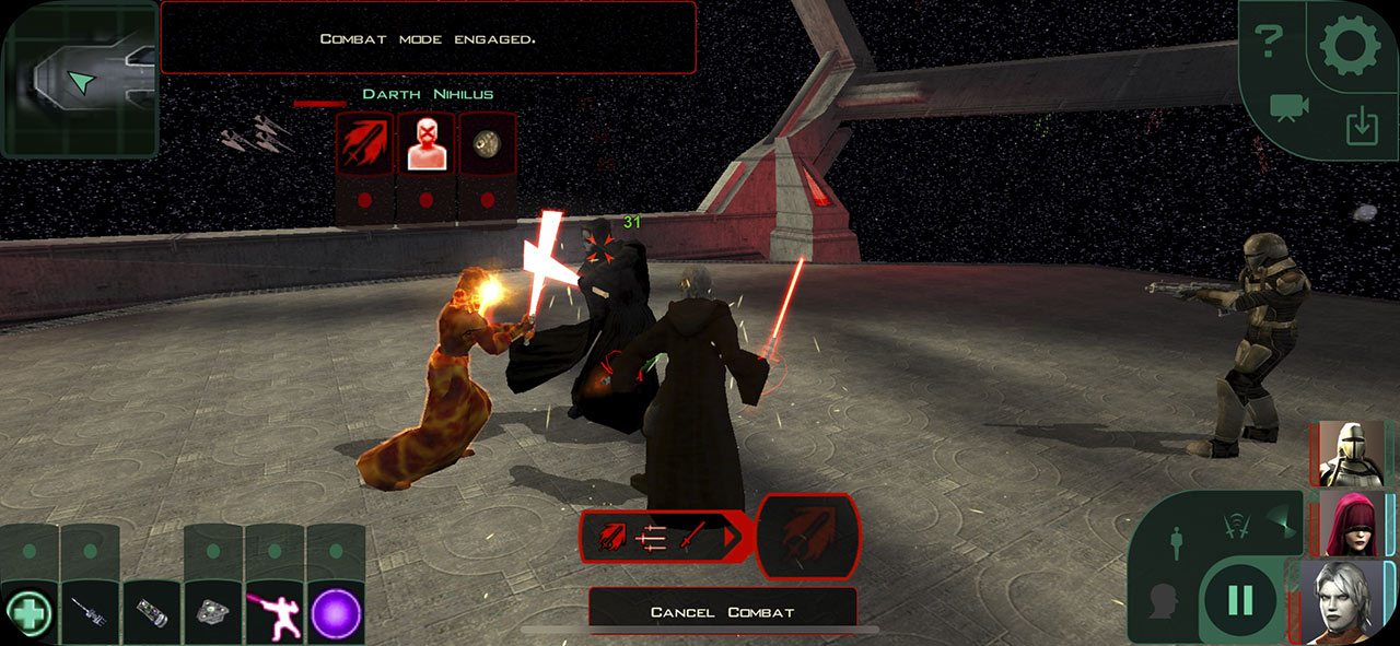 Star Wars Knights of the Old Republic gameplay