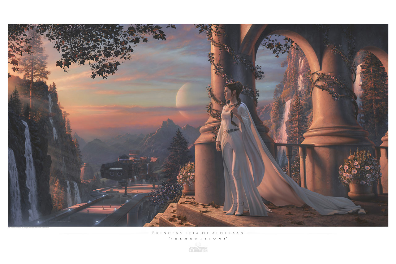 Star Wars Celebration 2020 Art Show: Leia's Premonitions