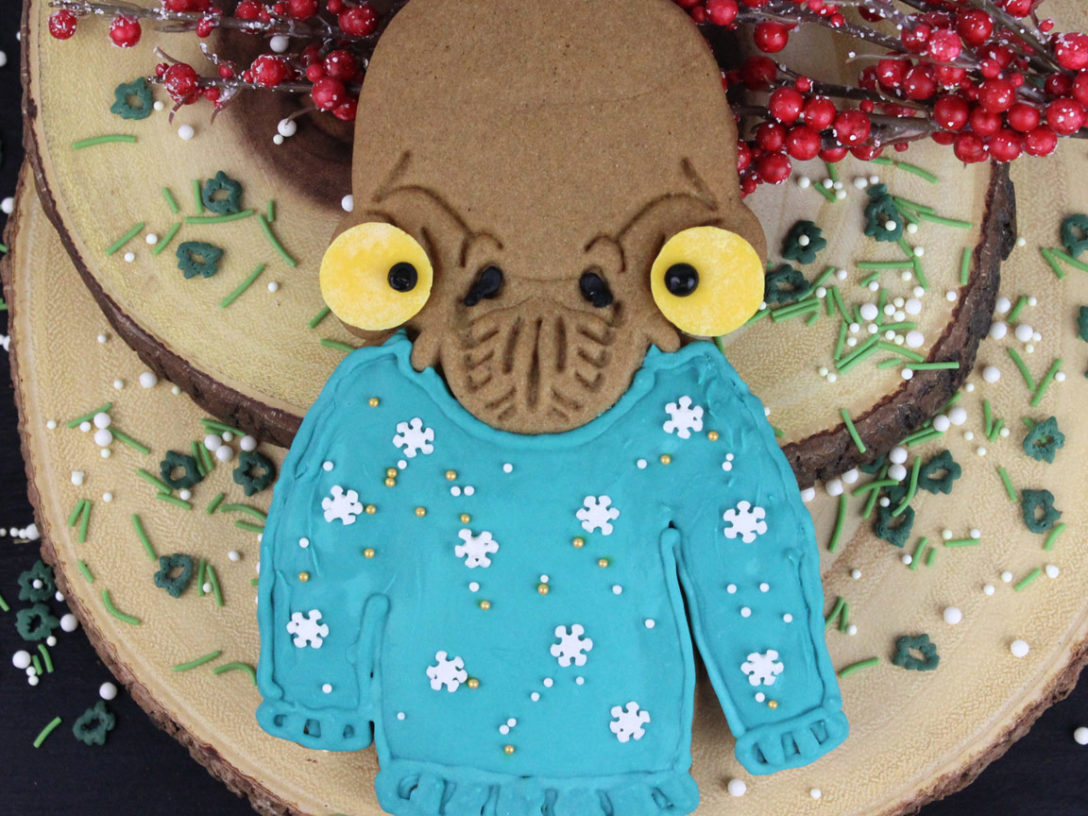 Mon Calamari Holiday Sweater Cookies