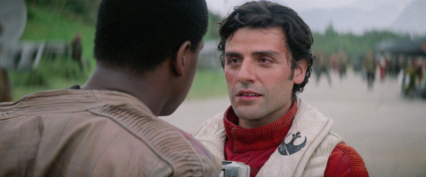 Finn and Poe in The Force Awakens