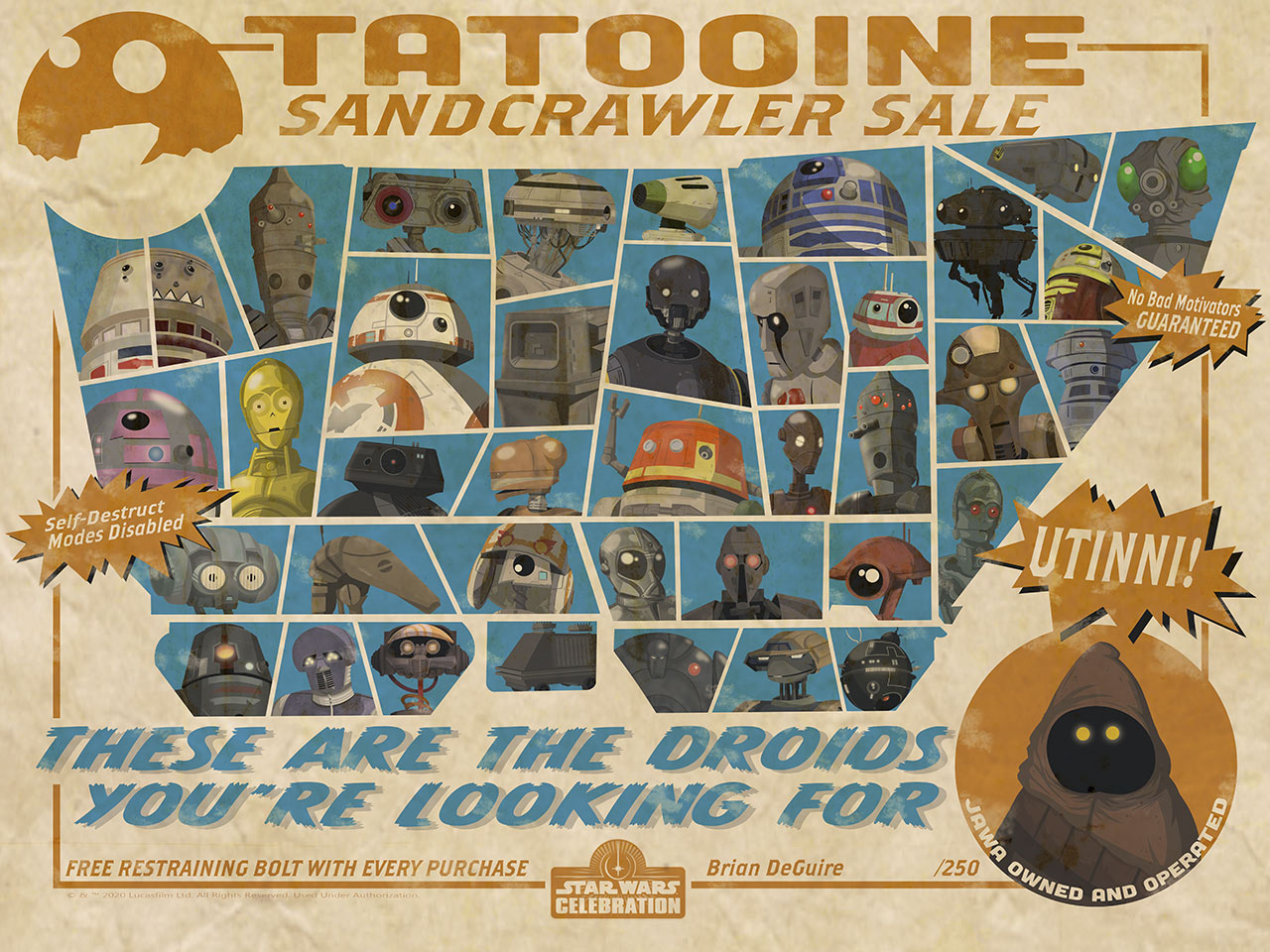Star Wars Celebration 2020 Art Show: Tatooine Sandcrawler Sale