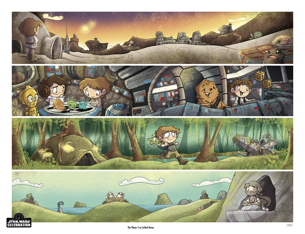 Star Wars Celebration 2020 Art Show: The Places I've Called Home