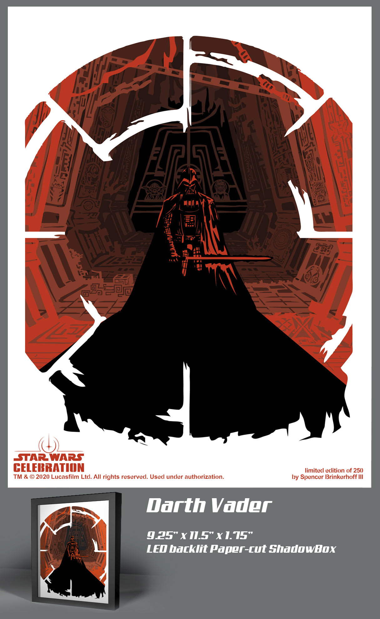 Star Wars Celebration 2020 Art Show: Darth Vader