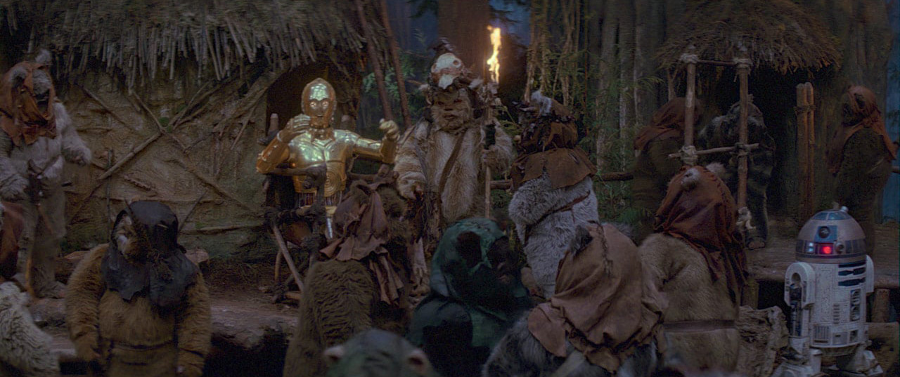 C-3PO in (Episode VI: Return of the Jedi)