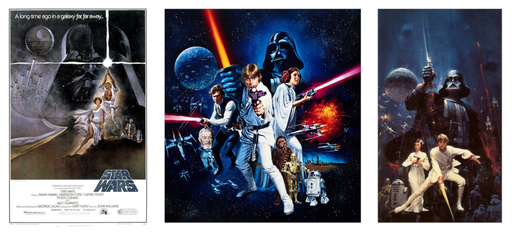 Original Star Wars poster and concept art.