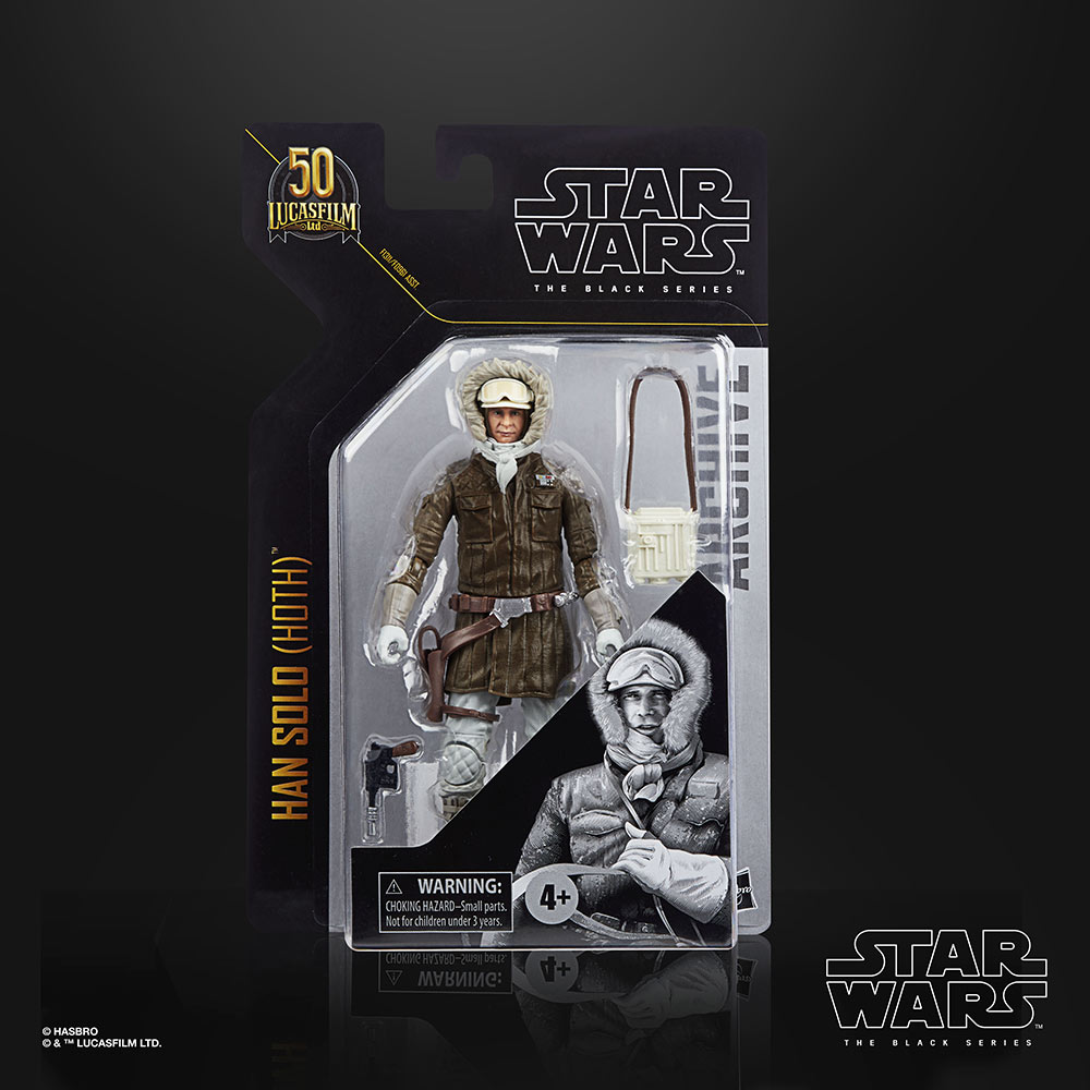 Star Wars The Black Series Han Solo (Hoth) box by Hasbro