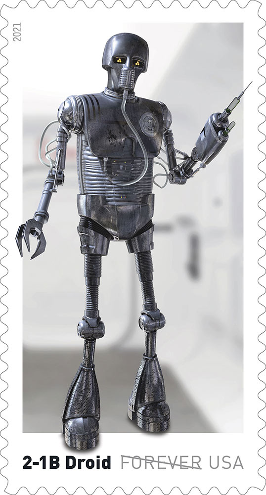 Star Wars stamps - 2-1B droid