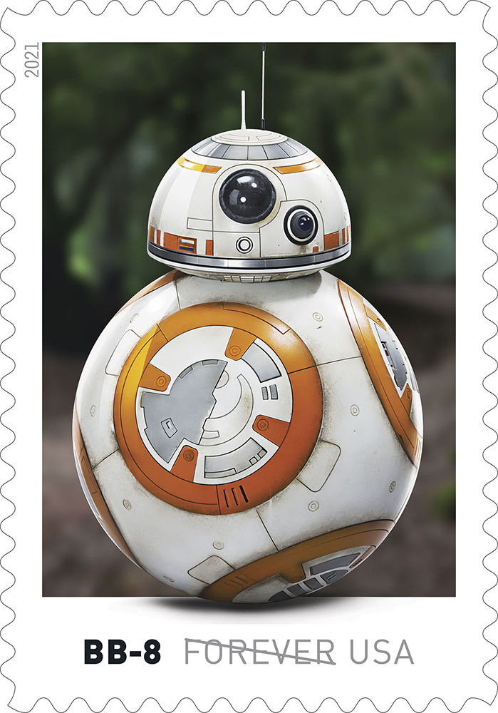 Star Wars stamps - BB-8