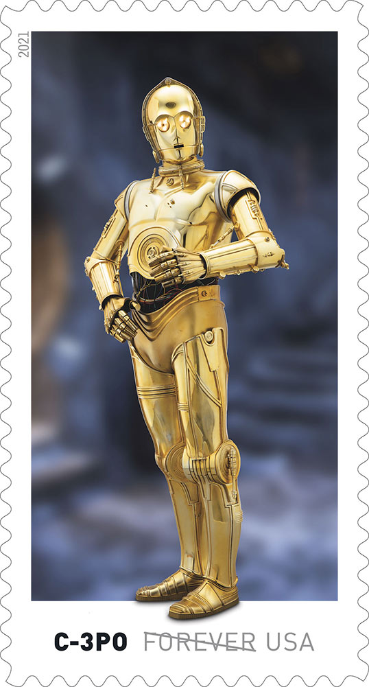 Star Wars stamps - C-3PO
