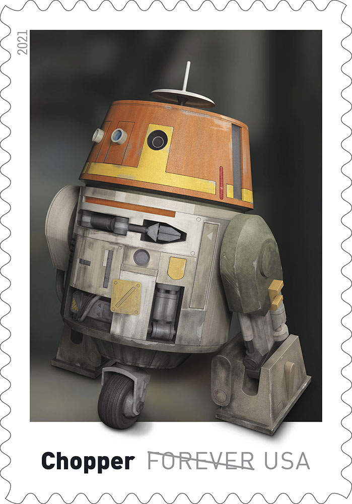 Star Wars stamps - Chopper