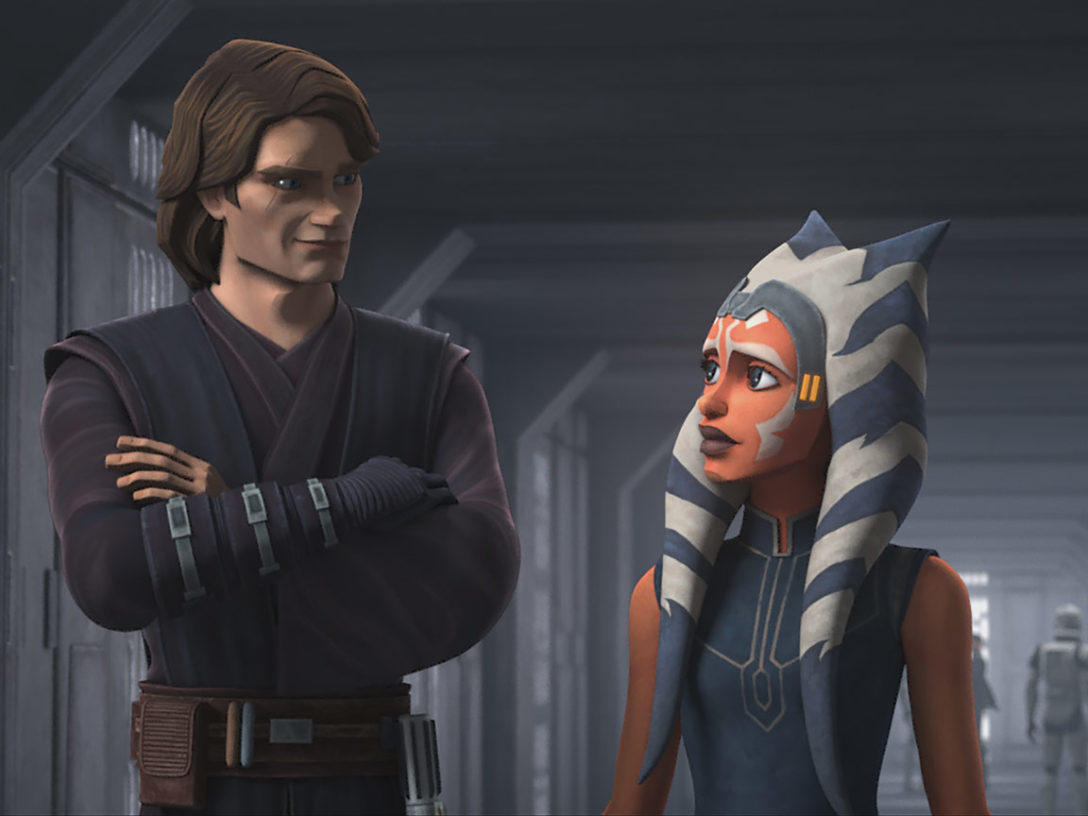 "Ahsoka and Anakin in ""Old Friends Not Forgotten"""