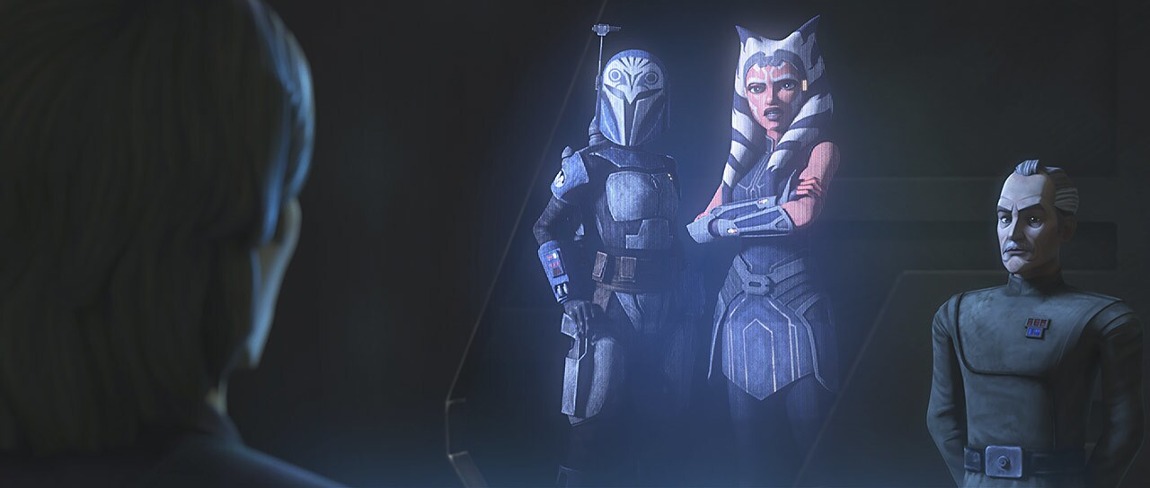 "Ahsoka and Bo-Katan in ""Old Friends Not Forgotten"""