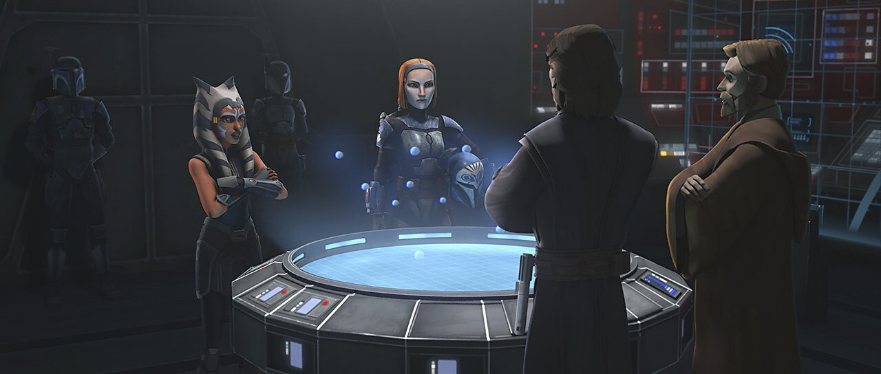 "Ahsoka, Bo-Katan, and Anakin in ""Old Friends Not Forgotten"""