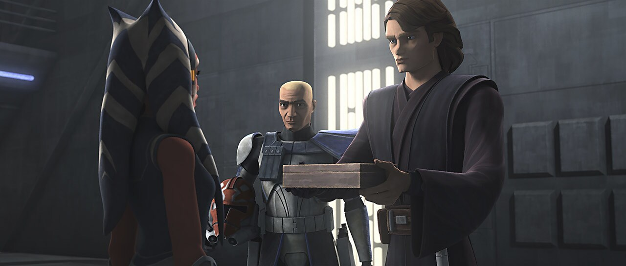 """Ahsoka and Anakin in """"Old Friends Not Forgotten"""""""