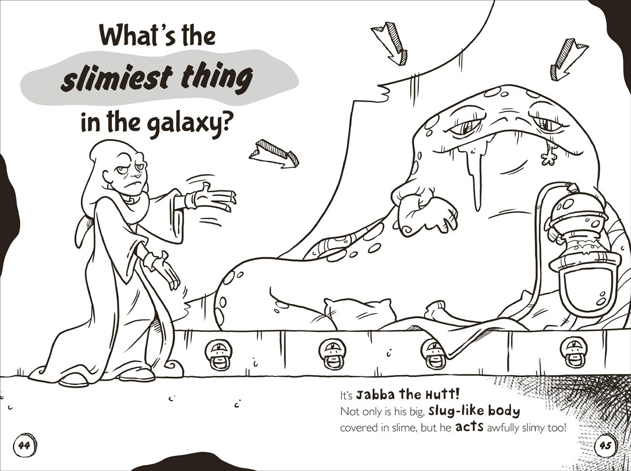 That Star Wars Book of Monsters, Ooze, and Slime spread on Jabba the Hutt