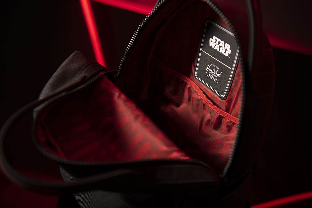 Star Wars x Herschel collaboration Darth Vader backpack