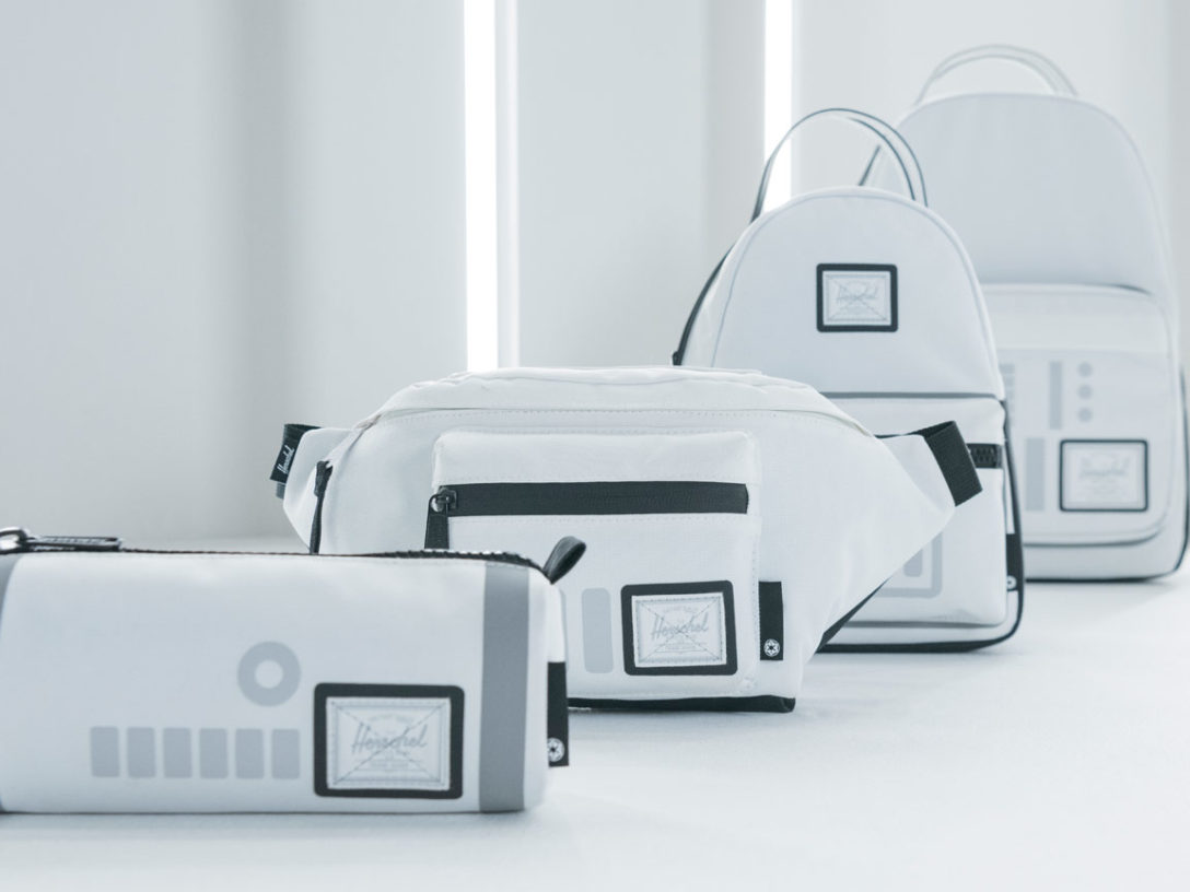 Star Wars x Herschel collaboration stormtrooper line