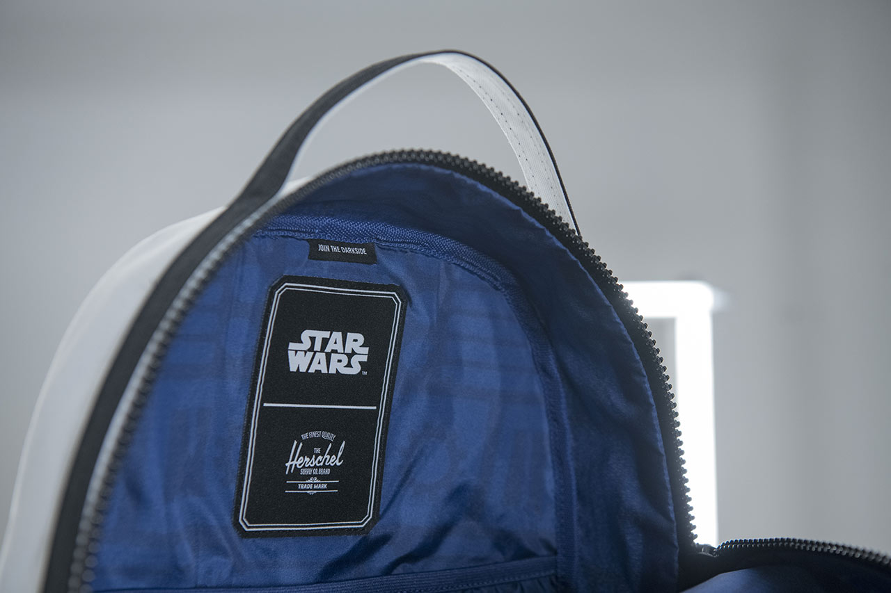 Star Wars x Herschel collaboration stormtrooper backpack