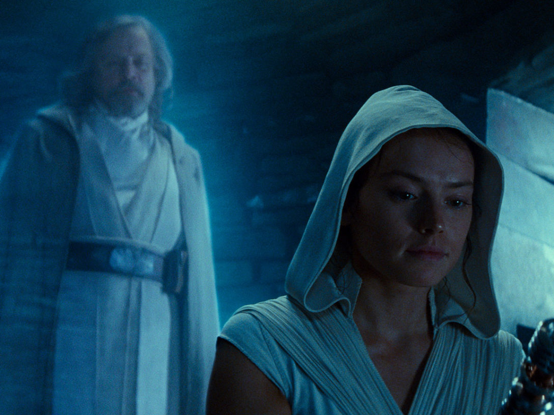 Luke and Rey in Star Wars: The Rise of Skywalker