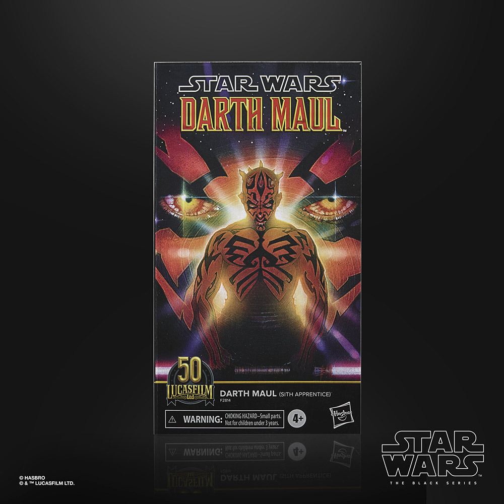 Hasbro's Black Series Darth Maul (Star Wars: Darth Maul) box back