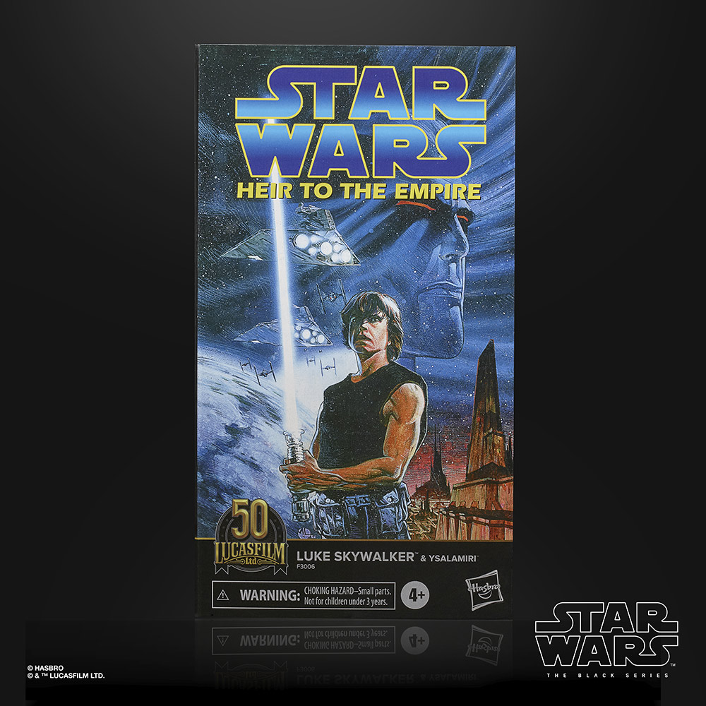 Hasbro's Black Series Luke Skywalker (Star Wars: Heir to the Empire) box back