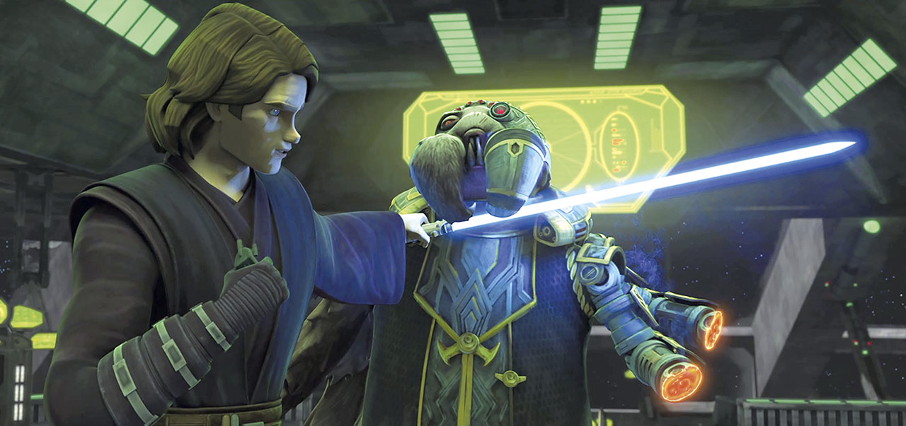 Anakin and Admiral Trench in Star Wars: The Clone Wars