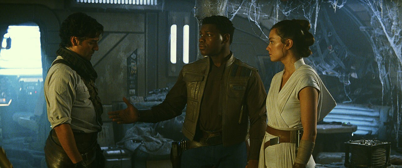 Finn, Rey, and Poe in Star Wars: The Rise of Skywalker