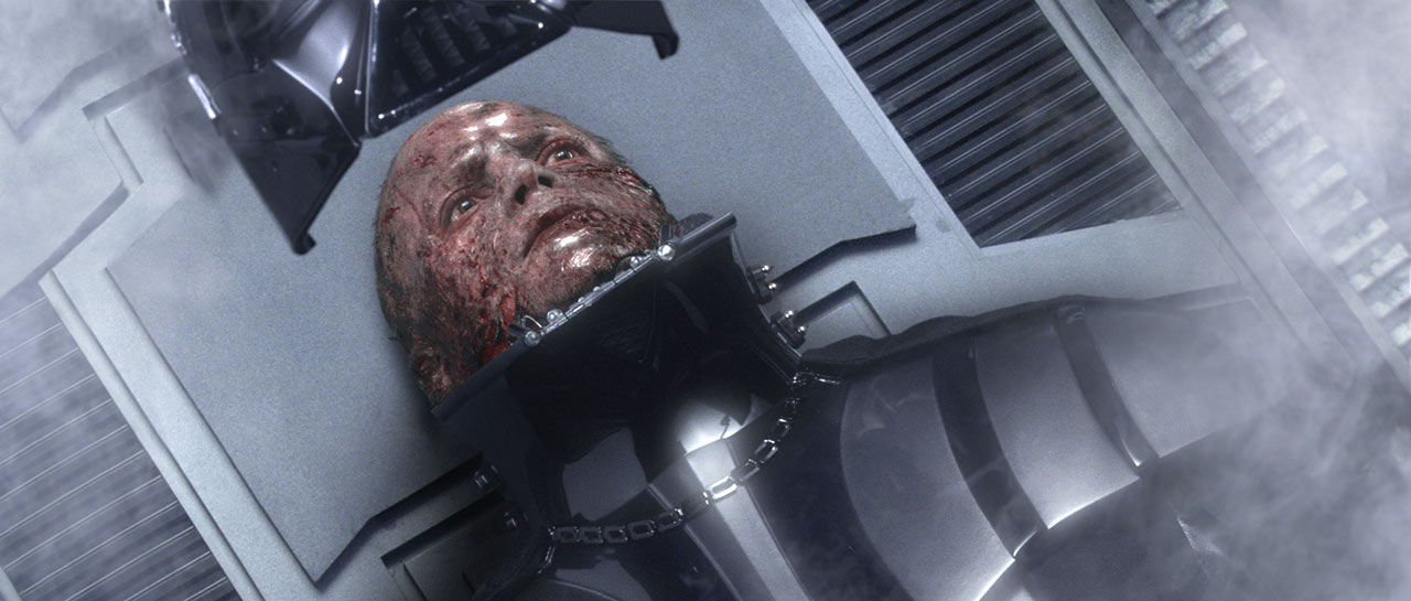 Anakin becoming Darth Vader in Star Wars: Revenge of the Sith