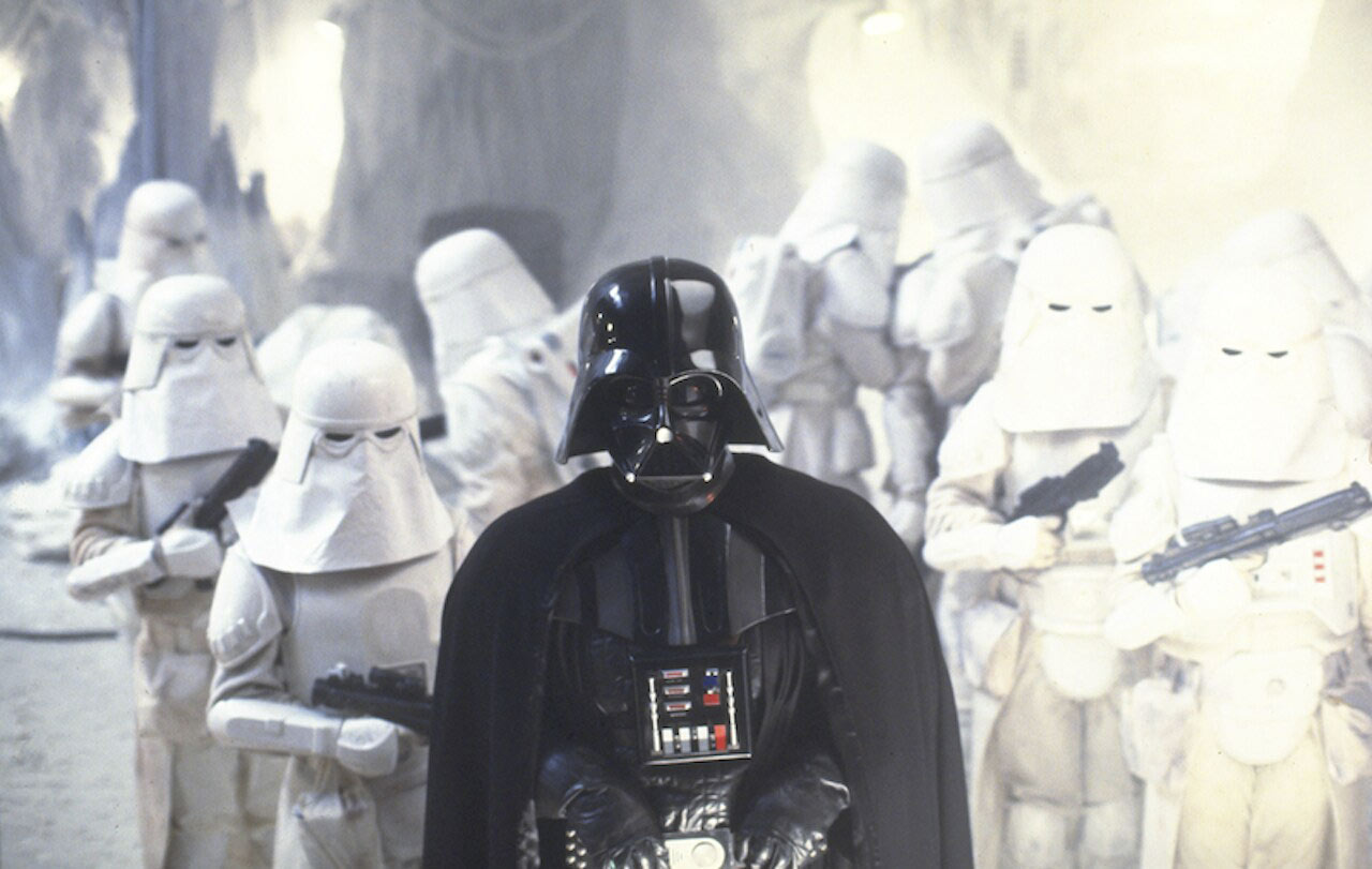 Darth Vader and snowtroopers