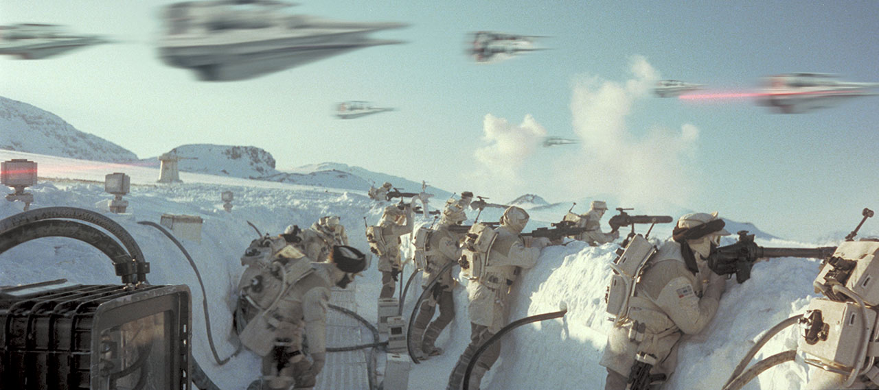 Trenches at the Battle of Hoth
