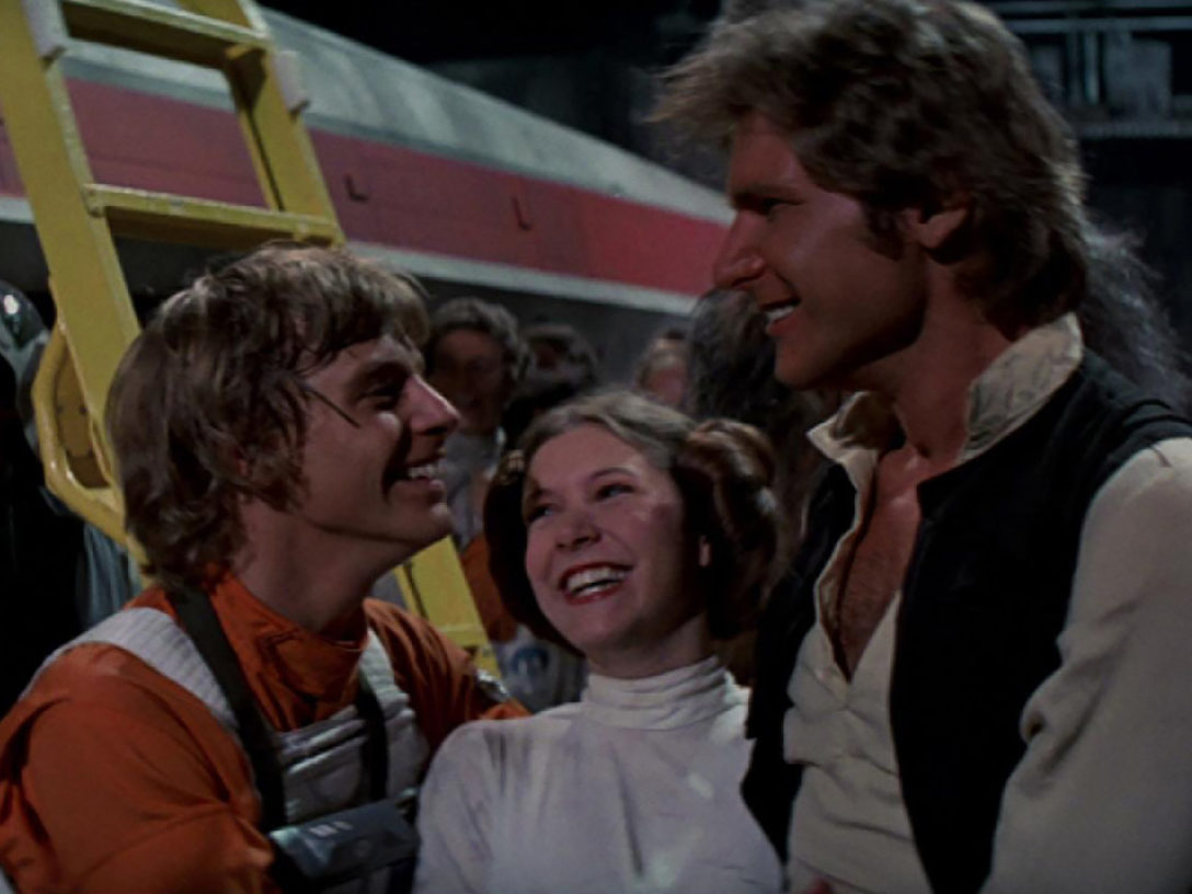Han, Leia, and Luke