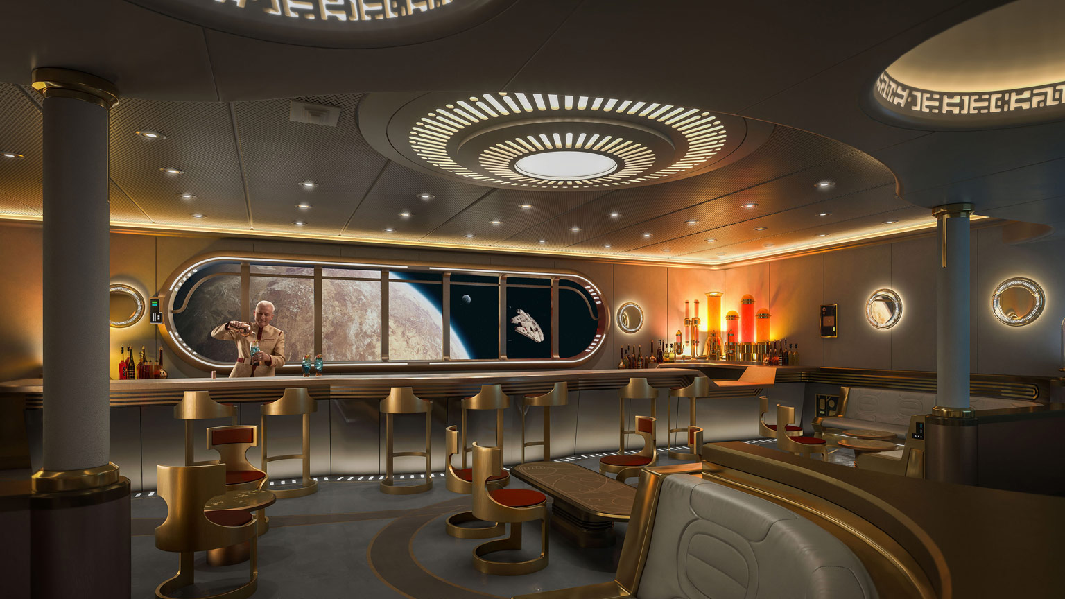 """Disney Cruise Line's """"Star Wars: Hyperspace Lounge"""""""