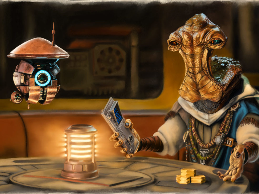 Concept art of Dok-Ondar from Star Wars: Tales from the Galaxy's Edge - Part II