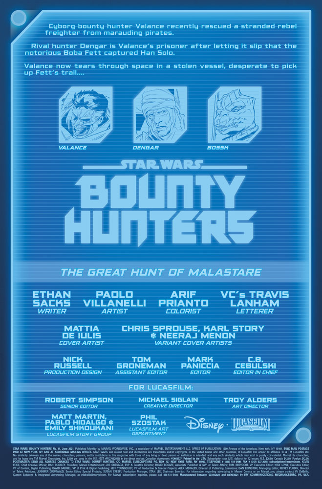 Marvel's Star Wars: Bounty Hunters #11 preview 1