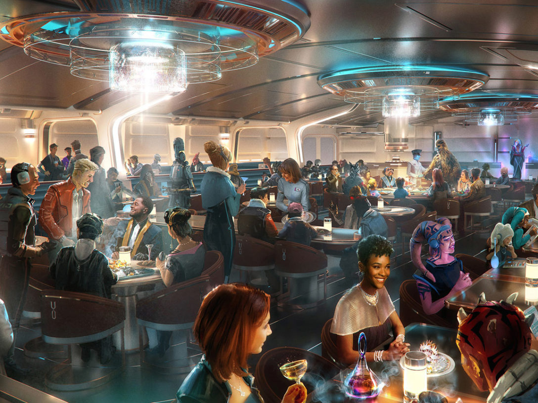 Star Wars: Galactic Starcruiser dining room