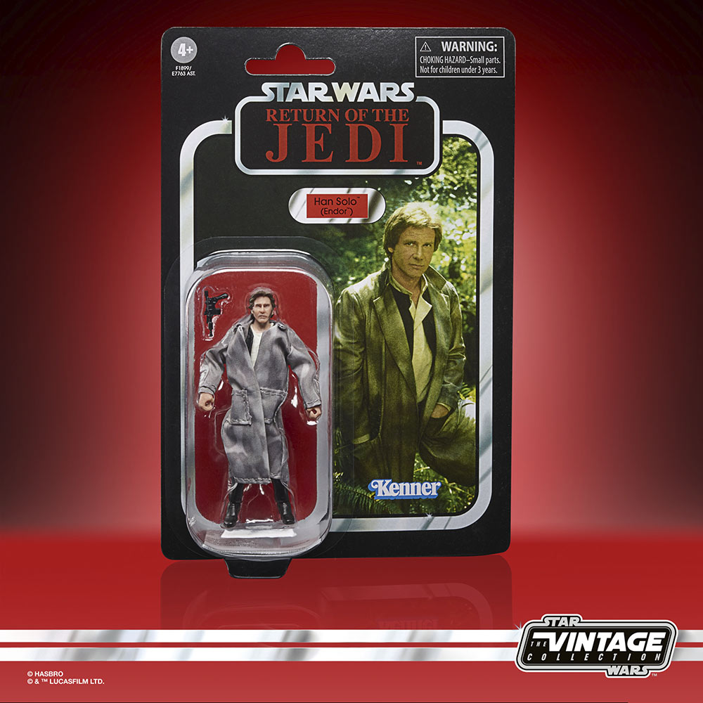 Star Wars The Vintage Collection - Han Solo in Endor gear in package