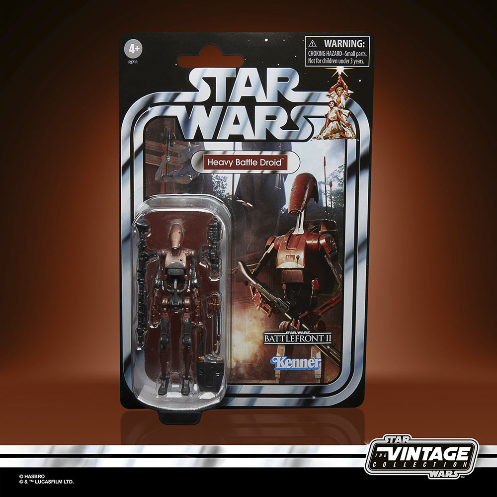 Star Wars The Vintage Collection Gaming Greats - heavy battle droid in package