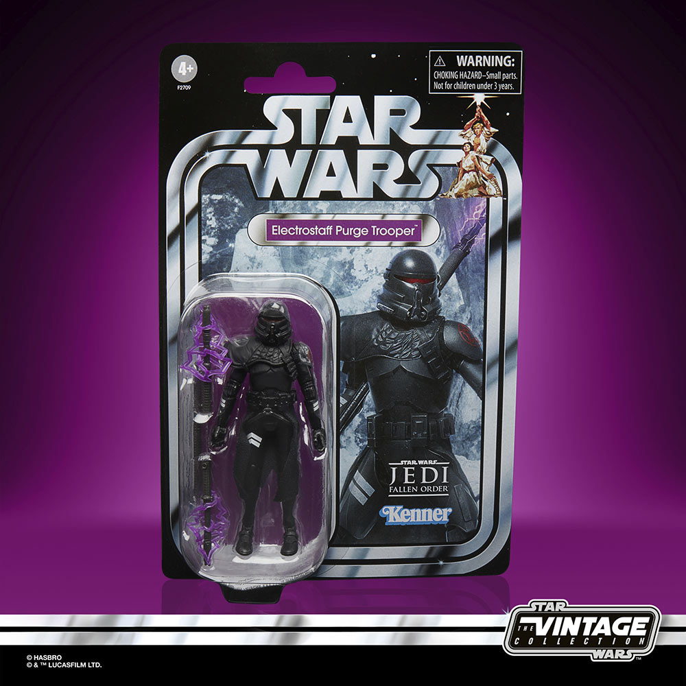 Star Wars The Vintage Collection Gaming Greats - electrostaff purge trooper in package
