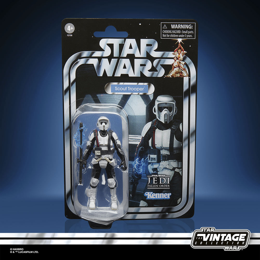 Star Wars The Vintage Collection Gaming Greats - shock scout trooper in package