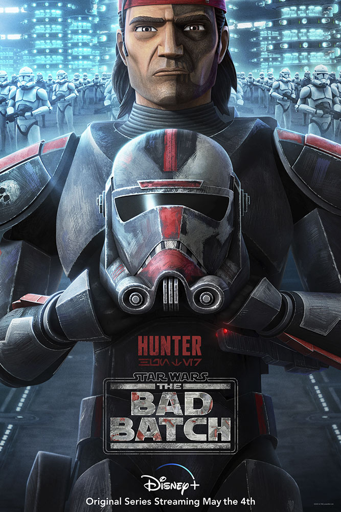 Star Wars: The Bad Batch poster - Hunter