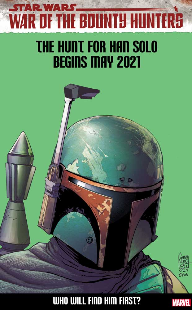 Star Wars: War of the Bounty Hunters #2 variant cover featuring Boba Fett.