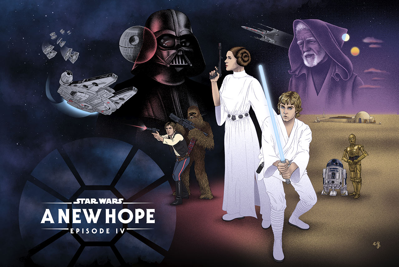 Star Wars: A New Hope Fan Art Takeover