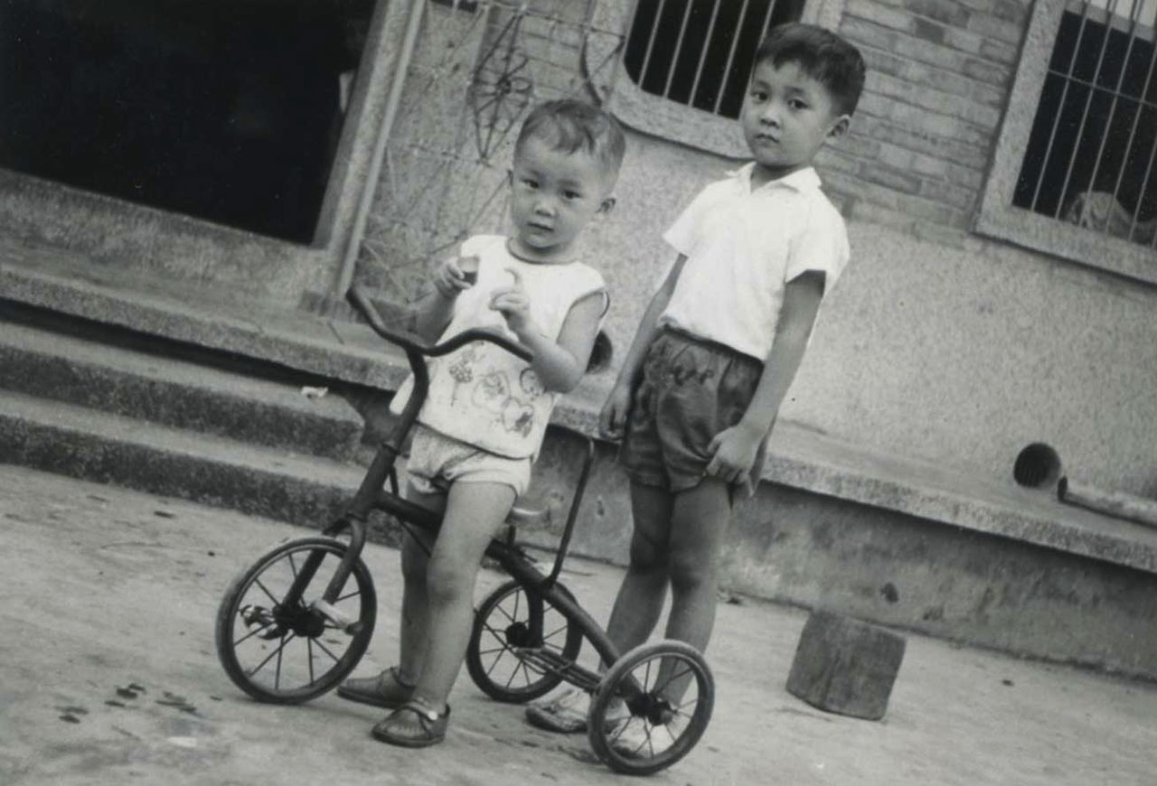 The Chiang brothers, Doug (left) and Sid (right), in Taiwan.
