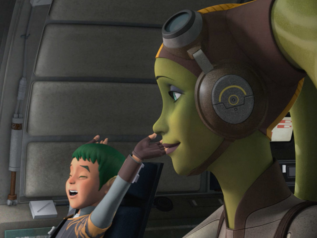 Hera Syndulla and Jacen.