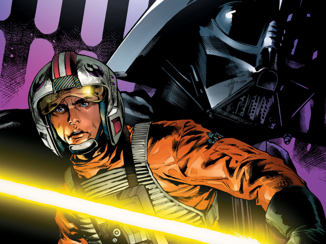 Luke Skywalker and Darth Vader from the cover of Star Wars #15