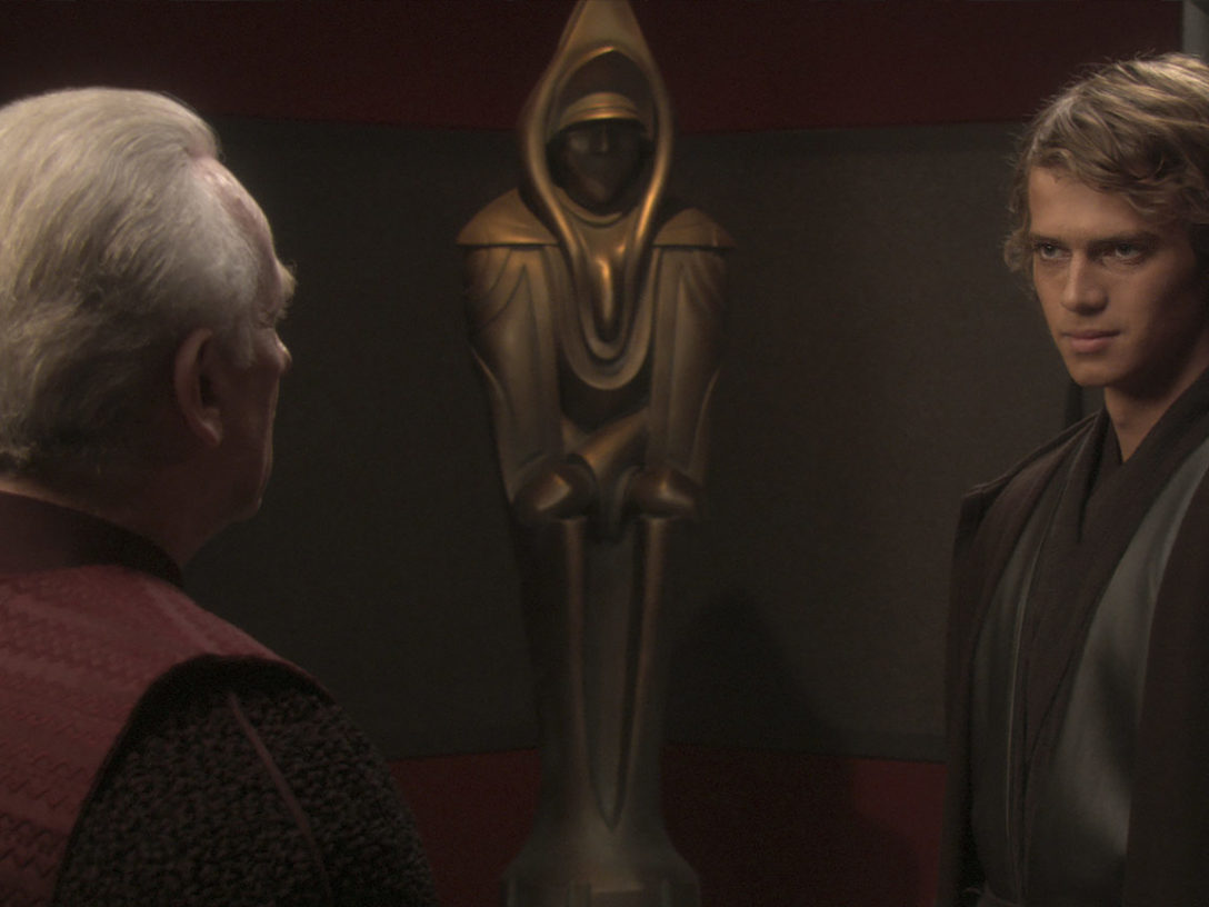 Chancellor Palpatine and Anakin in Attack of the Clones