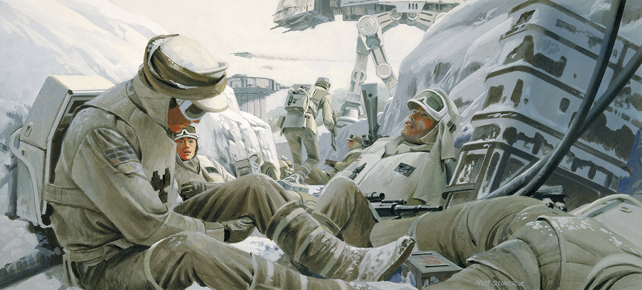 Star Wars: The Empire Strikes Back 40th Anniversary Special excerpt - Hoth trenches concept art